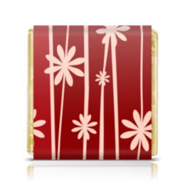 """Шоколадка 35х35 """"Красная поляна"""" - цветы, узор, стиль, рисунок, цветочный"""
