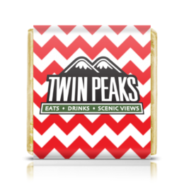 "Шоколадка 3,5×3,5 см ""Твин Пикс"" - twin peaks, твин пикс, дэвид линч, david lynch"