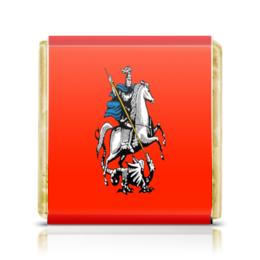 """Шоколадка 3,5×3,5 см """"Герб Москвы"""" - москва, россия, герб, столица"""