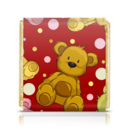"Шоколадка 3,5×3,5 см ""Мишки"" - милый, bear, cute, teddy, мишка тедди"