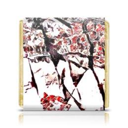 """Шоколадка 3,5×3,5 см """"Без названия"""" - яркий, красивый, интересный, необычный, нежный"""