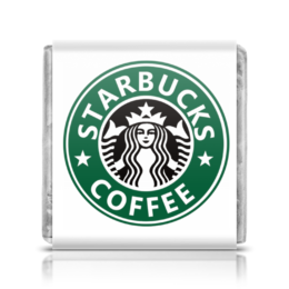 "Шоколадка 3,5×3,5 см ""Шололад Starbuks"" - шоколад топ молочный горький старбакс бренд"