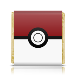 """Шоколадка 35х35 """"Покебол. Покемоны"""" - покемон, покемоны, покебол, pokemon go, pokeball"""