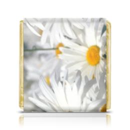 """Шоколадка 35х35 """"Ромашки"""" - цветы, цветок, растение, белый, ромашка"""