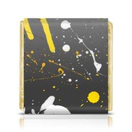 """Шоколадка 3,5×3,5 см """"Абстракция асфальт"""" - абстракция, абстрактный, жидкий акрил"""