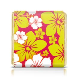 """Шоколадка 35х35 """"Цветочная"""" - цветы, узор, стиль, рисунок, цветочный"""