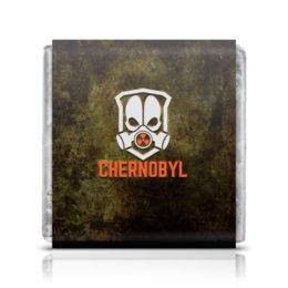 """Шоколадка 3,5×3,5 см """"Чернобыль"""" - кино, сериал, катастрофа, чернобыль, зона отчуждения"""