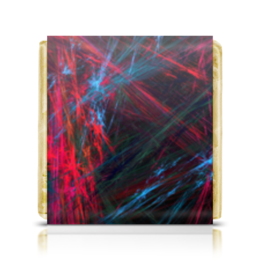 """Шоколадка 35х35 """"Абстрактный дизайн"""" - графика, абстракция, лучи, линии, авангард"""