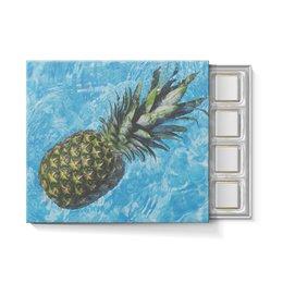 """Набор конфет """"С ореховой начинкой"""" """"Лето!"""" - лето, цветы, бассейн, сочный ананас, спелый ананас"""