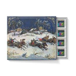"""Набор конфет """"С ореховой начинкой"""" """"НОВЫЙ ГОД"""" - надпись, зима, красота, лошади, зимние игры"""
