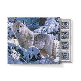"""Набор конфет """"С ореховой начинкой"""" """"БЕЛЫЙ ВОЛК"""" - стиль, снег, лес, красота, волк"""