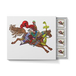 """Набор конфет """"С ореховой начинкой"""" """"Дюк Степанович"""" - лошади, конь, всадник, полёт, билибин"""
