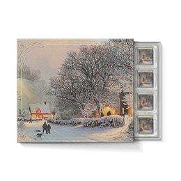 """Набор конфет """"С ореховой начинкой"""" """"ЗИМНИЙ ВЕЧЕР"""" - зима, снег, улица, красота, дома"""