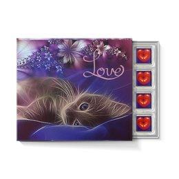"""Набор конфет """"С ореховой начинкой"""" """"ЛЮБОВЬ LOVE"""" - кошка, надпись, стиль, красота, поцелуй"""