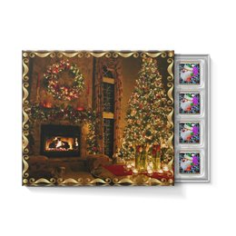 """Набор конфет """"С ореховой начинкой"""" """"НОВЫЙ ГОД"""" - камин, рождество, санта, вечер, елка"""