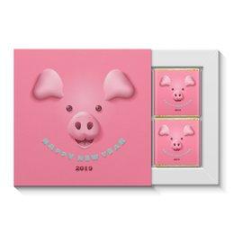 """Набор конфет """"4 шоколадки"""" """"Новый год"""" - новый год, свинья, 2019"""