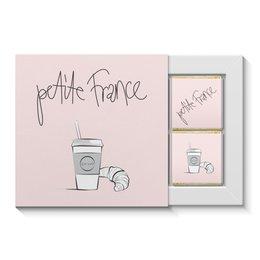 "Набор конфет ""4 шоколадки"" ""Маленькая Франция"" - романтика, кофе, франция, париж, круассан"