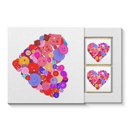 """Набор конфет """"4 шоколадки"""" """"День всех влюбленных"""" - любовь, день святого валентина, валентинка, i love you, день влюбленных"""