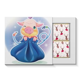 """Набор конфет """"4 шоколадки"""" """"год свиньи"""" - арт, стиль, рисунок, 2019"""