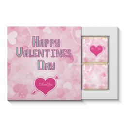 """Набор конфет """"4 шоколадки"""" """"14 Февраля"""" - любовь, 14 февраля, сердечки, день св валентина"""