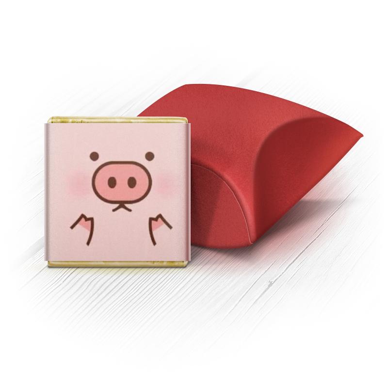 Набор шоколадных конфет Ракушка Printio Удивлённая свинка кухонный набор сима ленд свинка фаня 3694320
