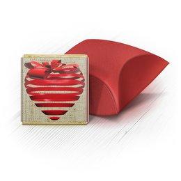 """Набор шоколадных конфет """"Ракушка"""" """"Бонбоньерка 3d сердце"""" - сердце, 14 февраля, работа, свадьба, дружба"""