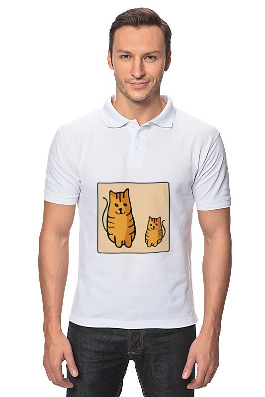 Рубашка Поло Printio Два котика, смотрящие друг на друга неизвестный друг