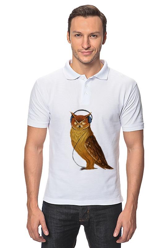 все цены на Рубашка Поло Printio Сова в наушниках онлайн