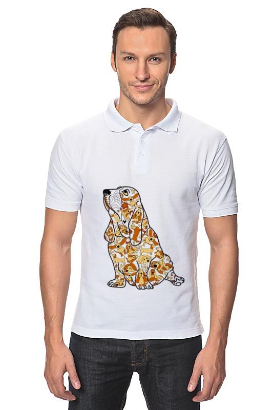 Рубашка Поло Printio Смешная собака бассет купить щенкак в донецке бассет