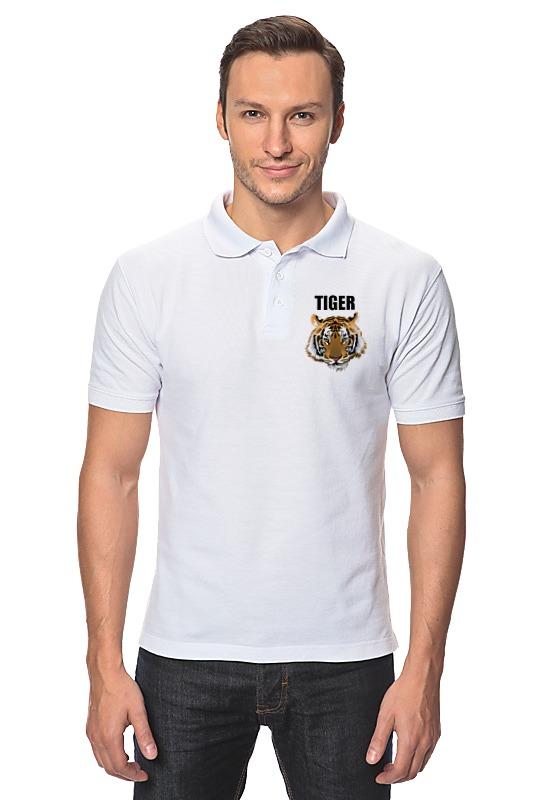 Рубашка Поло Printio Взгляд тигра шапочка для плавания arena polyester  цвет  темно синий
