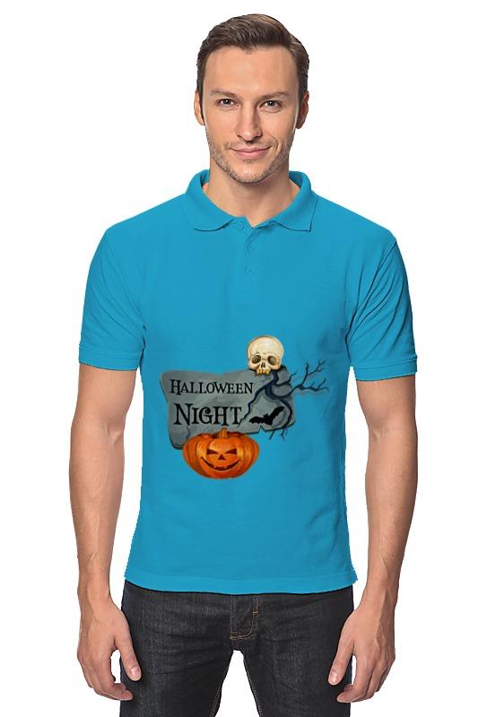 Рубашка Поло Printio Хэллоуин поло print bar черепа с бантиками