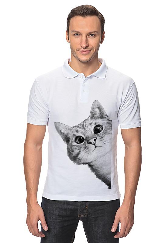 Рубашка Поло Printio Любопытный кот рубашка поло printio кот здесь власть