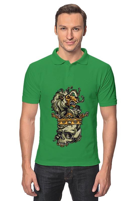 Рубашка Поло Printio Череп и лев поло print bar черепа с бантиками