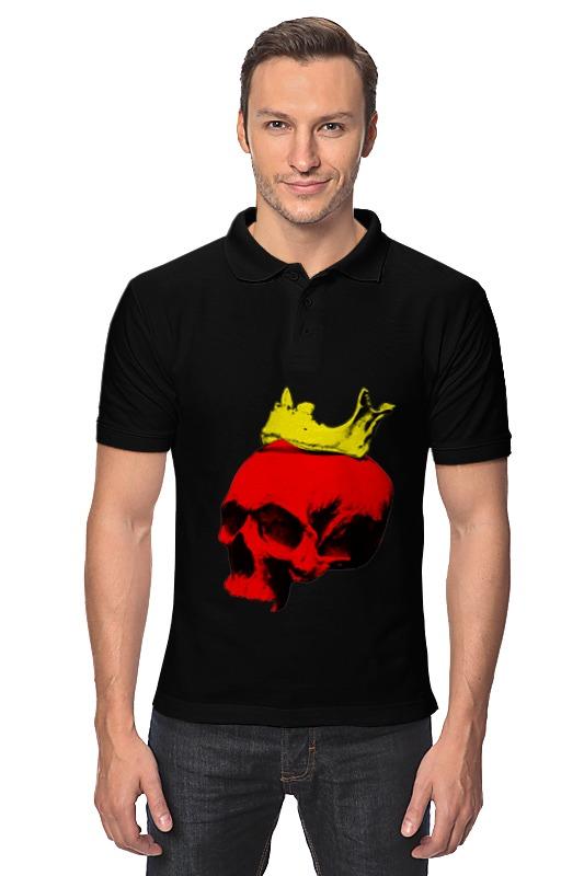 Рубашка Поло Printio Череп короля