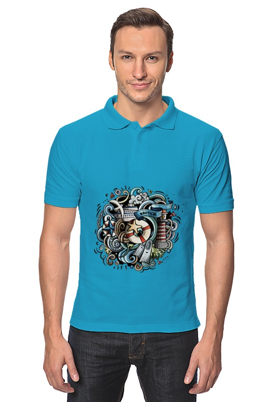Рубашка Поло Printio Морское глиняная свеча морское чудо 217026