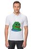 """Рубашка Поло """"Пепе улыбается"""" - мем, мемы, пепе"""