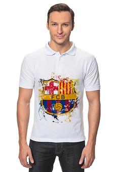"Рубашка Поло ""барселона"" - футбол, эмблема, barcelona, барселона"