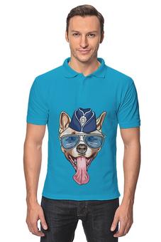 "Рубашка Поло ""Собака"" - новый год, собака"