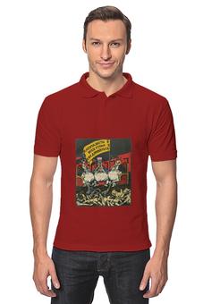 """Рубашка Поло """"Советский плакат, 1920-х г. (В. Дени)"""" - ссср, плакат, коммунизм, дени"""