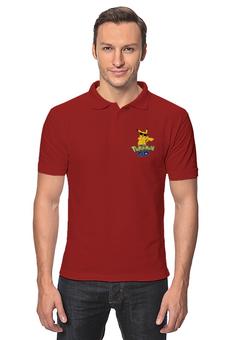 """Рубашка Поло """"Pokemon GO"""" - игра, покемон, пикачу, доллар, pikachu"""