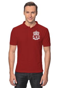 "Рубашка Поло ""Ливерпуль"" - футбол, ливерпуль, liverpool, футбольный клуб, you ll never walk alone"