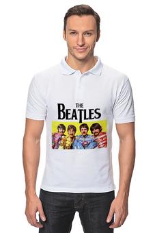 """Рубашка Поло """"Квартет из Ливерпуля"""" - the beatles, майка с битлами, ливерпульская четвёрка, звёзды рока, легенды рока"""