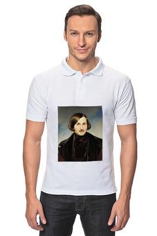"""Рубашка Поло """"Николай Гоголь (портрет работы Фёдора Моллера)"""" - картина, гоголь, моллер"""