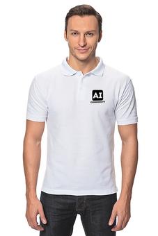 "Рубашка Поло ""Поло AI Community (муж)"" - community, ai, ai community, data science, machine learning"