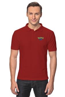 """Рубашка Поло """"Pokemon GO"""" - игра, покемон, пикачу, pikachu, покеболл"""