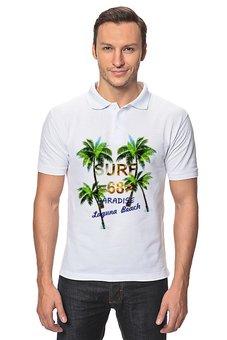 """Рубашка Поло """"SURF 68"""" - лето, поло, мужское, пальмы, клевая"""