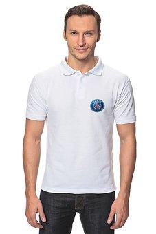 "Рубашка Поло ""Логотип ПСЖ"" - футбол, париж, псж, пари сен-жермен, psg"