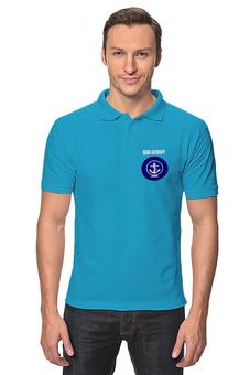 """Рубашка Поло """"Морской разведчик"""" - море, якорь, канат, разведчик"""