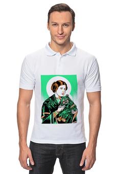 """Рубашка Поло """"Преподобная Лея"""" - прикол, star wars, звездные войны, икона, leya"""