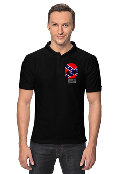"Рубашка Поло ""Флаг Конфедерации США"" - война, америка, флаг, сша, флаг конфедерации"